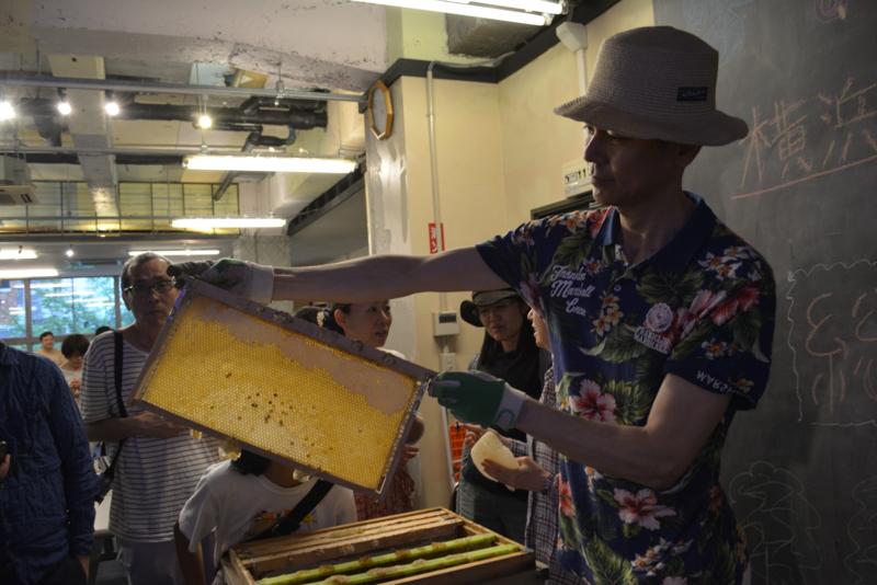 普段は見る事が出来ない養蜂の世界を見る事が出来ます